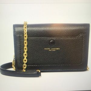 Marc Jacobs gold chain leather crossbody